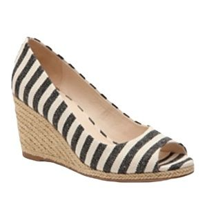 Kelly & Katie striped wedge fabric shoes